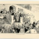 The Coronation of Conrad I, original antique print