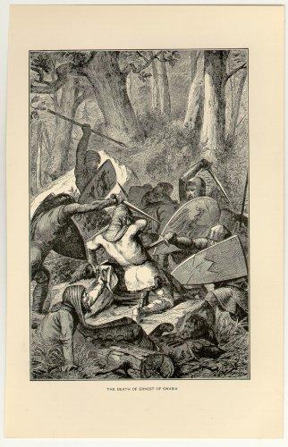 The Death of Ernest of Swabia, original antique print