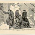 Henry IV Seeking Entrance to Canossa, original antique print