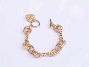 JB02 Rhinestone Heart GoldTone Bracelet $13.99