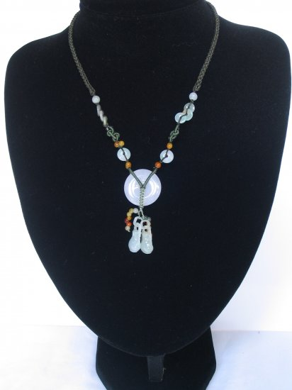 YUN02 Blessing Disc Jade Necklace
