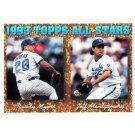 1994 Topps #394 Randy Myers, Jeff Montgomery AS