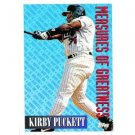 1994 Topps #607 Kirby Puckett Measures of Greatness