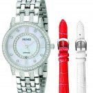 Jiusko Women's Analog Display Quartz Silver Watch + Case + 2 Straps - 109SS01