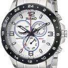 JIUSKO Men's Multifunction Analog Quartz Sapphire Silver Watch - 128LSB01