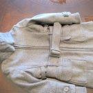 ARTIGLI GIRLS GREY WOOL BELTED DRESS WINTER COAT WITH FUR SIZE 4 REG. $195