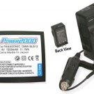 Battery + Charger for Panasonic DMC-G2A DMC-GF1K-K DMC-GH1 DMCG2 DMCG2A DMCG2B