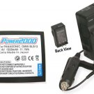 Battery + Charger for Panasonic  DMCGH1K  DMCGH1N