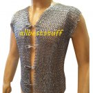 Chain Mail Riveted Club Jacket with Metal Clasp
