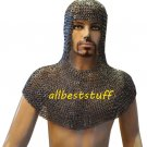 9 mm Riveted Chain Mail Coif Round Rivet with Flat Solid Ring Coif