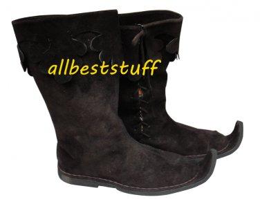 Medieval Leather boots Men Rough Black shoes