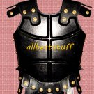 Medieval Leather Breastplate Armor Black Chestplate Body Muscle Armor Black