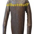 Chain Mail Shirt Flat Riveted with Flat Washer Integrated Coif & Mittens 8mm