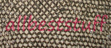 MS Chain mail Round Full Riveted - SHEET Only