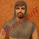 MS Chain Mail Butted Coif Standard Size Zinc plated Chainmail Coif Zinc