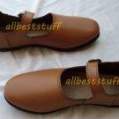 Medieval Leather Sandal Brown Female Medieval Footwear