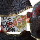 MS Chain Mail Chainmail Shirt Flat Rivet with Flat Washer  Hauberk Brass