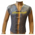 Chain Mail Club Jacket with Metal Clasp Flat Riveted Zinc