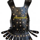 Medieval Body Muscle Breastplate Armor Leather Body Armor Black with Belt