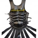Body Muscle Armor Leather Breastplate Black Armor with Belt