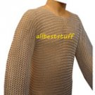 Butted Chain Mail Shirt in Aluminium Anodized Medium Large Hauberk