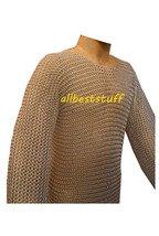 Butted Chain Mail Shirt in Aluminium Anodized Medium Large Hauberk