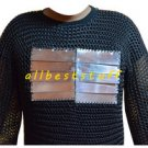 MS Chain Mail Butted Shirt with MS Plates Blackend Shirt Chainmail