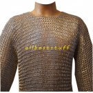 Riveted Chain Mail Shirt Round Aluminium Shirt & Legging Set Silver Anodized