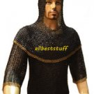 Chain Mail Shirt Flat Rivet Flat Washer Designer Chainmail Shirt and Coif Set