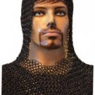 Mild Steel Butted Chain Mail Coif Standard size Chainmail coif V Shape
