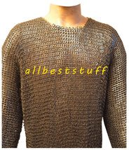 8mm MS Flat Riveted with Flat Washer Chain Mail Shirt XL