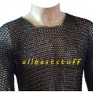 MS Chainmai Shirt Butted with Blackend Coating Chain Mail Shirt Meduim SCA