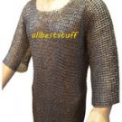 Chain Mail Shirt Mild Steel Hauberk Flat Rivet Flat Washer ChainMail Large