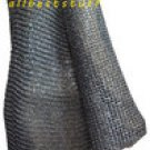 Round Riveted Chain Mail Shirt Large Chainmail Long Sleev Mild Steel