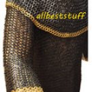 MS Chain Mail Shirt Flat Riveted Flat Washer Designer Chainmail Shirt Blackend