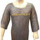 MS Chain Mail Chainmail Shirt Flat Riveted Washer Hauberk
