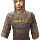 Chain Mail Shirt Flat Riveted with Flat Washer Chain Mail Shirt with Coif 8mm