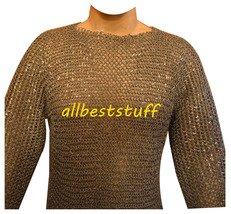 Riveted Chain Mail Shirt Round Aluminium Shirt Round Full Rivet Silver Anodized
