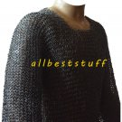 Chain Mail Shirt Round Rivet Blackend Chainmail Shirt X Large SCA