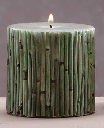 Scented Candle With Grassy Field