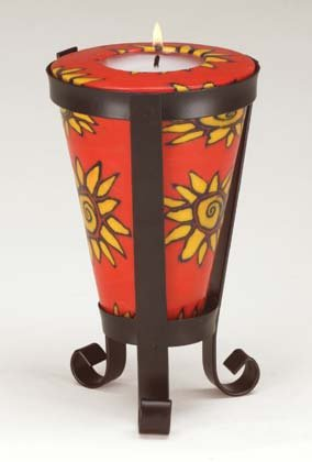 Sunburst Pattern Cone-Shaped Candle