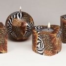 Safari Pattern Candle Set