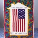 US Flag Pattern Cotton Sheet