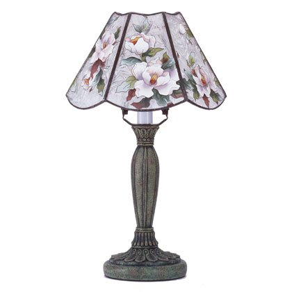 Magnolia Painted Lamp