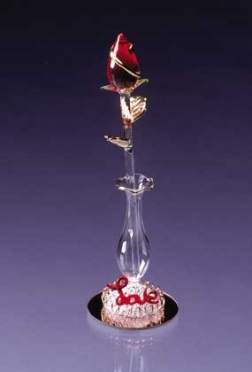 Glass Sculptured Love Rose