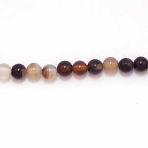 Black Agate 4mm Round Beads (GE8)