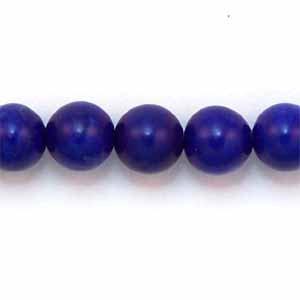 Howlite Lapis Lazuli color 6mm Round Beads (GE38)