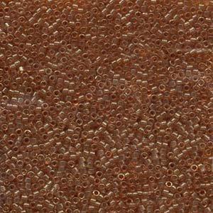DB121 Miyuki Delica 11o Translucent Cocoa Seed beads 15gr (SB1021)