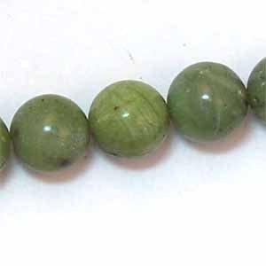 Green Nephrite Jade 10mm Round Beads (GE49)