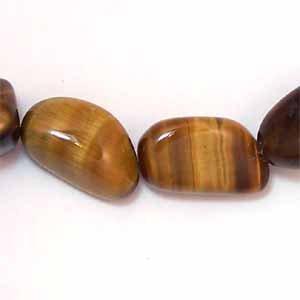 Tigereye Medium-size Nugget Beads (GE106)